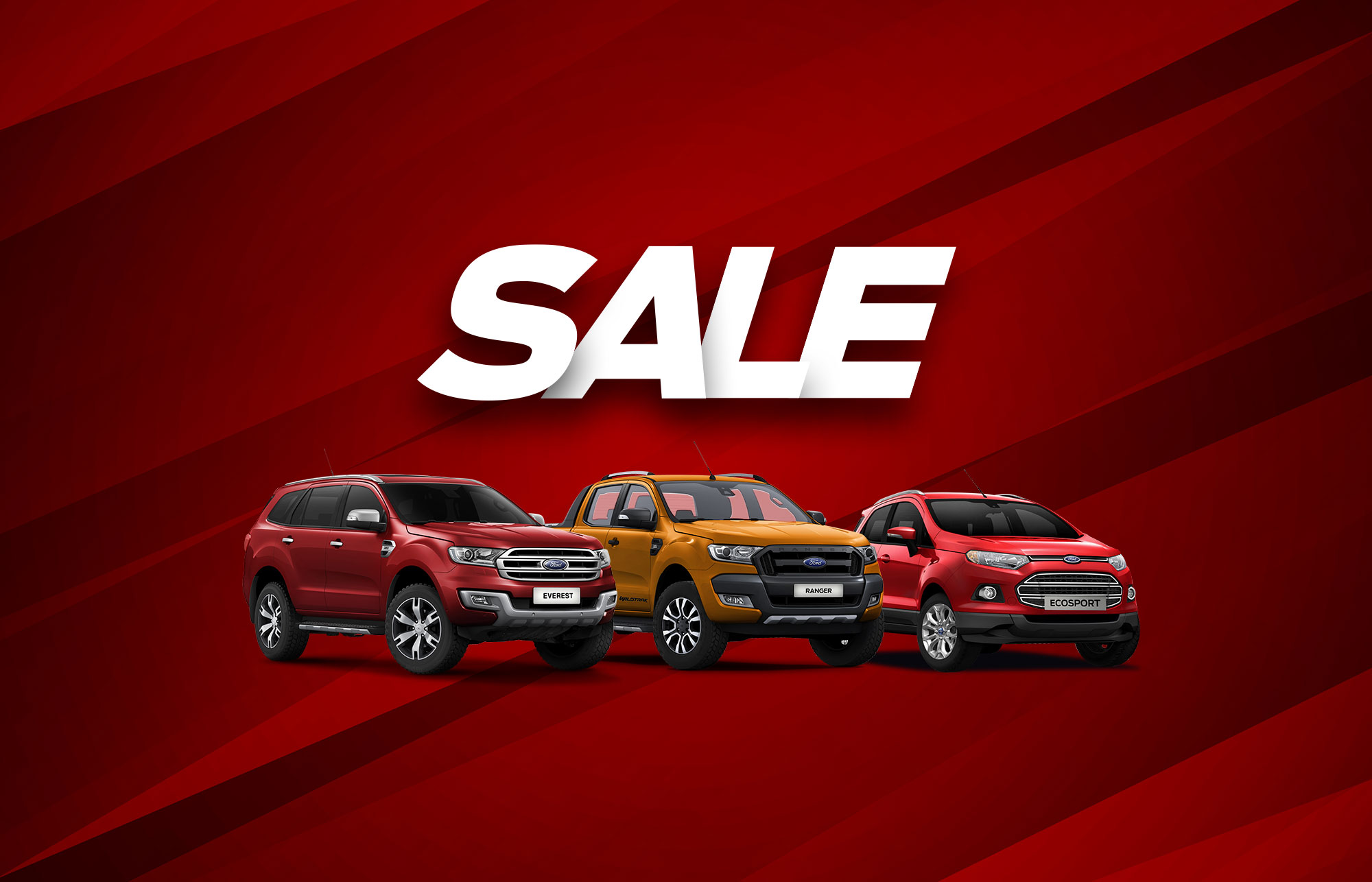 Offers on Ecosport, Ranger and Everest from Ford Laus Dealers