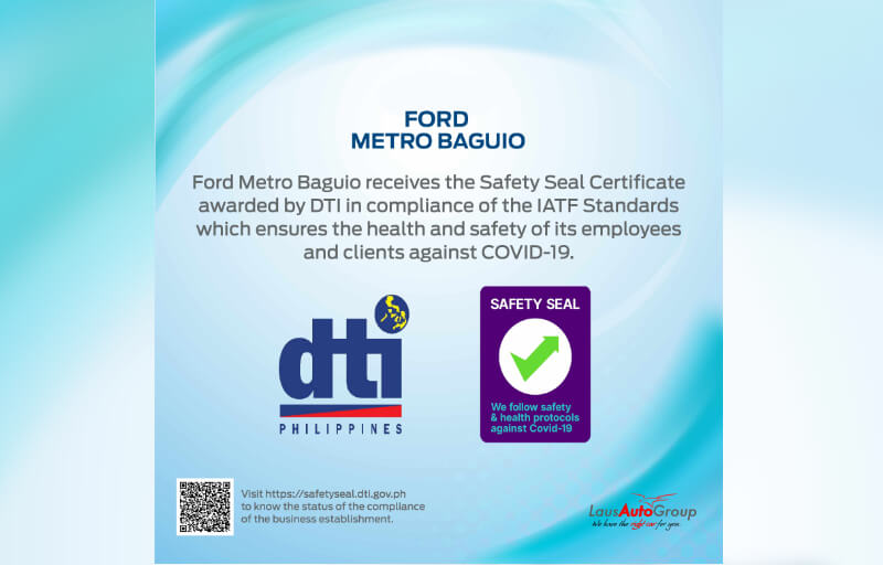 Safety Seal - Ford Metro Baguio