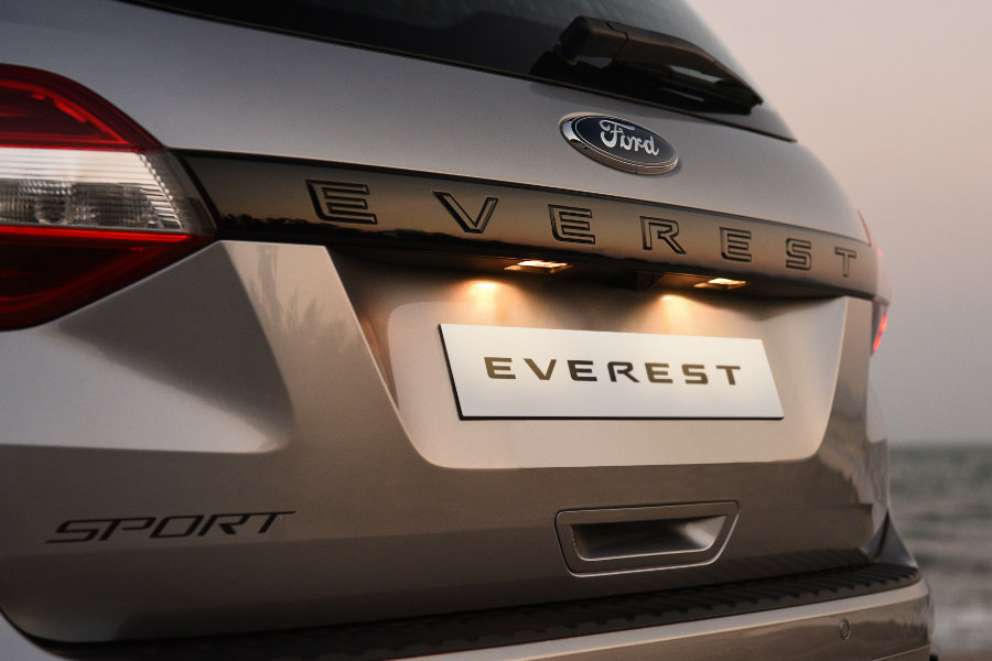 Ford Everest Sport Rear View