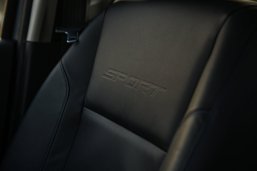 Ford Everest Sport leather interior