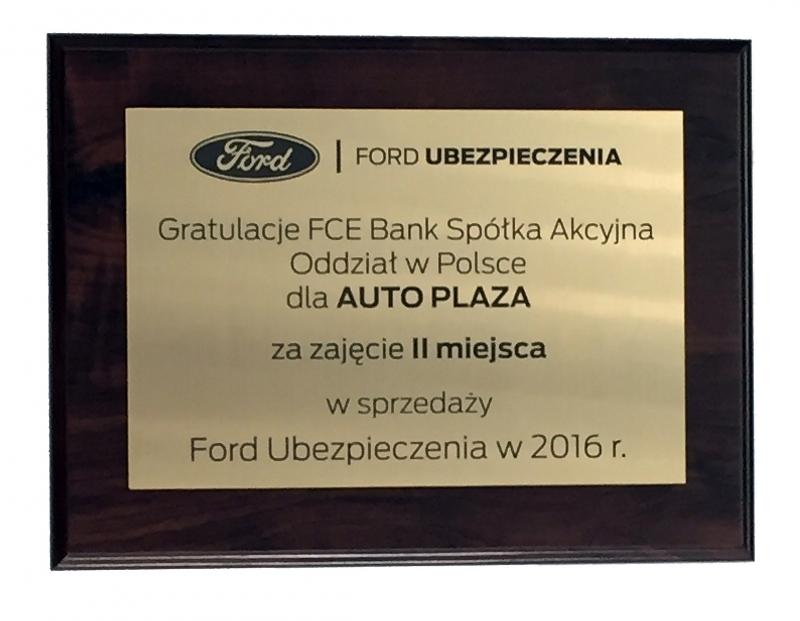 Sprzedaż Ford ubezpieczenia – II miejsce