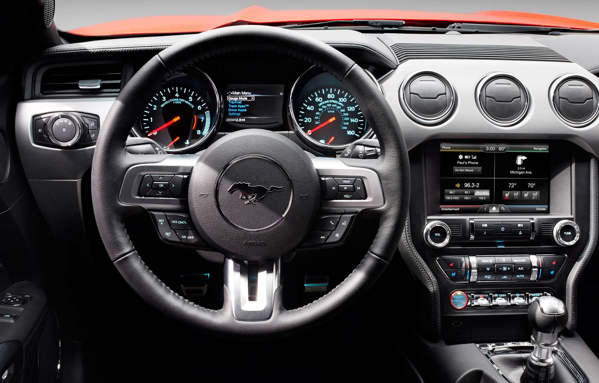 Ford Mustang interiör