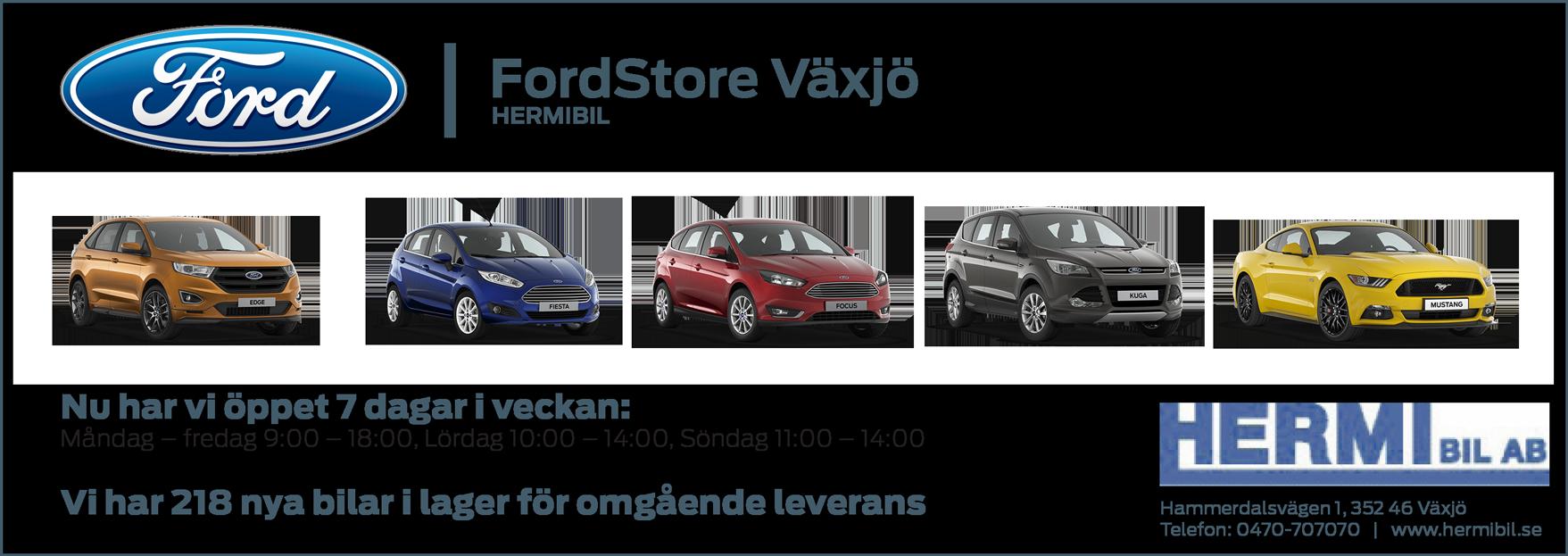 FordStore Växjö öppet 7 dagar i veckan